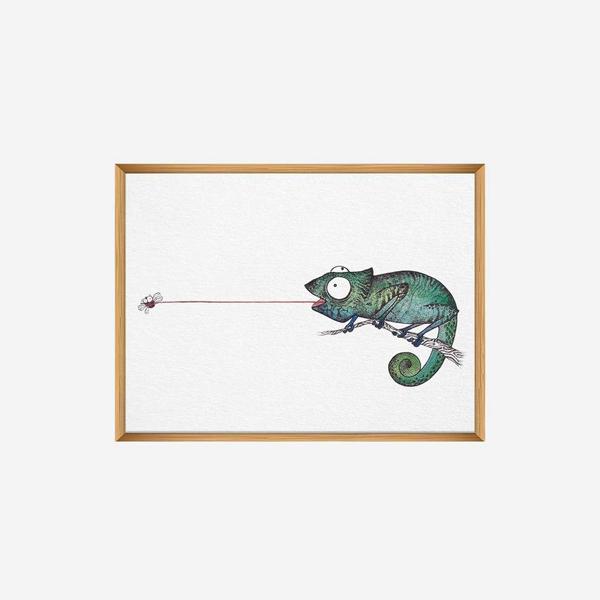 Kunstdruck Fliegenfänger - DIN A4 1