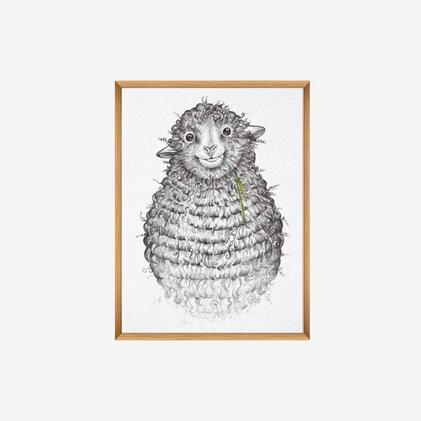 Kunstdruck Wollfried - DIN A4 1