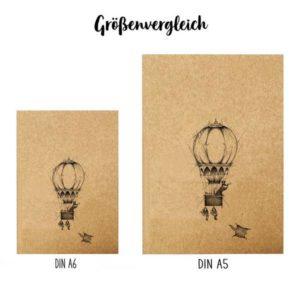 Notizbuch, A6, Ballonfahrer 5