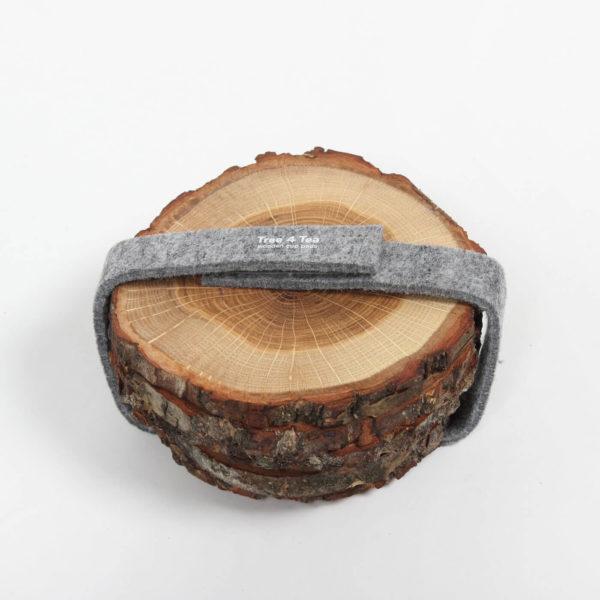 Untersetzer Tree4Cake aus Eiche - 2er Set 2