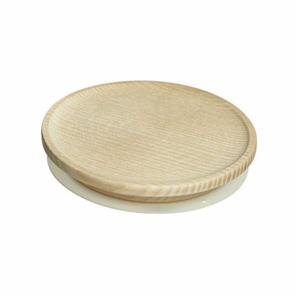 Holzdeckel aus Eschenholz für Looops Duftkerzenglas 1