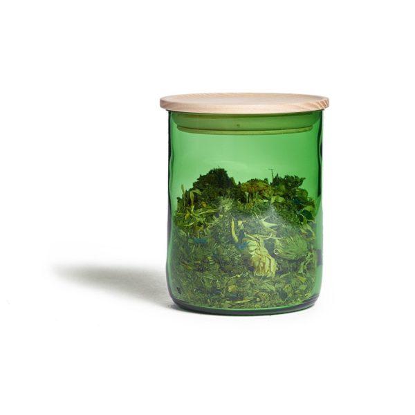 Holzdeckel aus Eschenholz für Looops Duftkerzenglas 2