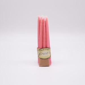 Kerzen aus Myrtenwachs Altrose - 10er Set