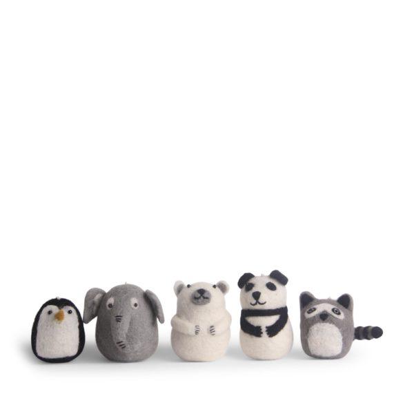 Anhänger Zootiere aus Filz 5er Set