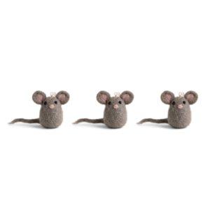 Drei Mäuse aus Filz von der Firma Én Gry & Sif
