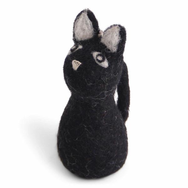 Schwarze Katze aus Filz von der Firma Én Gry &Sif