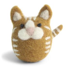 Rotgetigerte Katze aus Filz von der Firma Én Gry & Sif