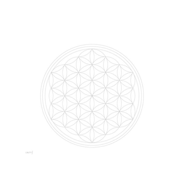 Glastrinkflasche Flower of Life – 1,0 l 3