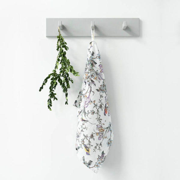 Geschirrtuch aus 100% Leinen - birds print 1