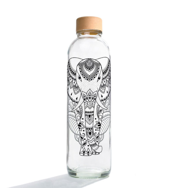 Glastrinkflasche Elephant - 0,7 l