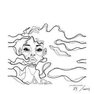 Glastrinkflasche Female Mind - 0,7 l