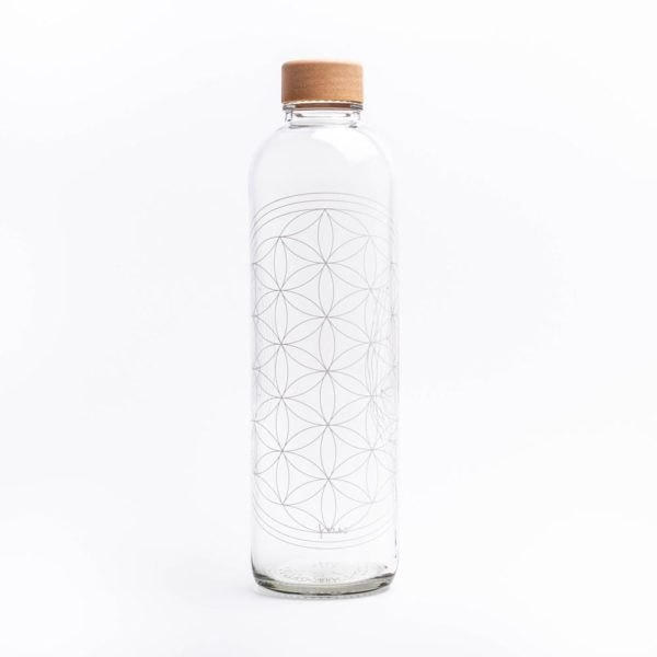 Glastrinkflasche Flower of Life – 1,0 l