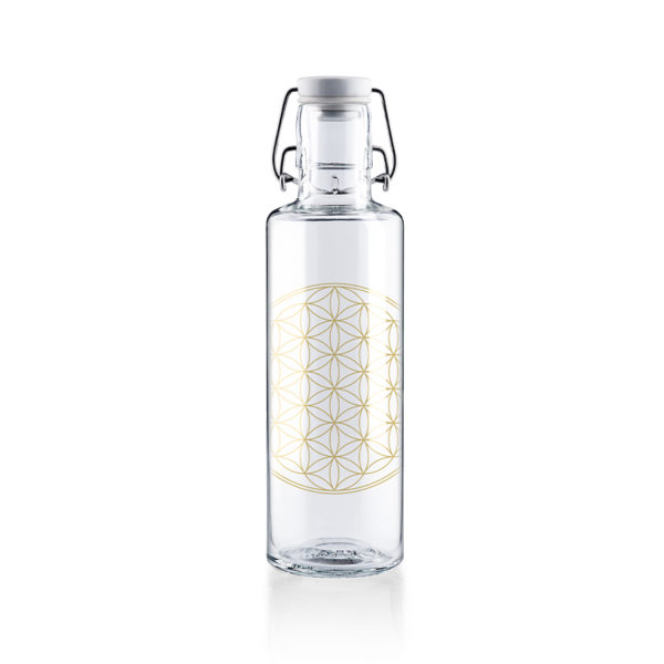Glastrinkflasche Flower of life - 0,6 l