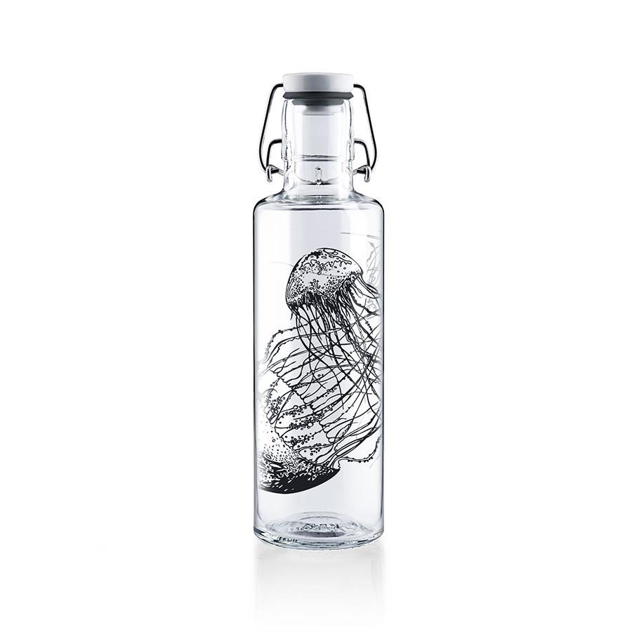 Glastrinkflasche Jellyfish in the bottle - 0,6 l