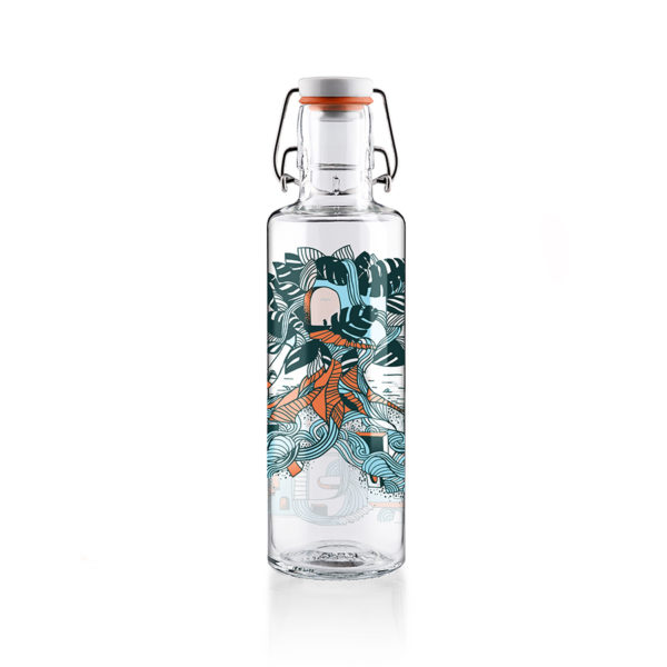 Glastrinkflasche Waterfallcity - 0,6 l