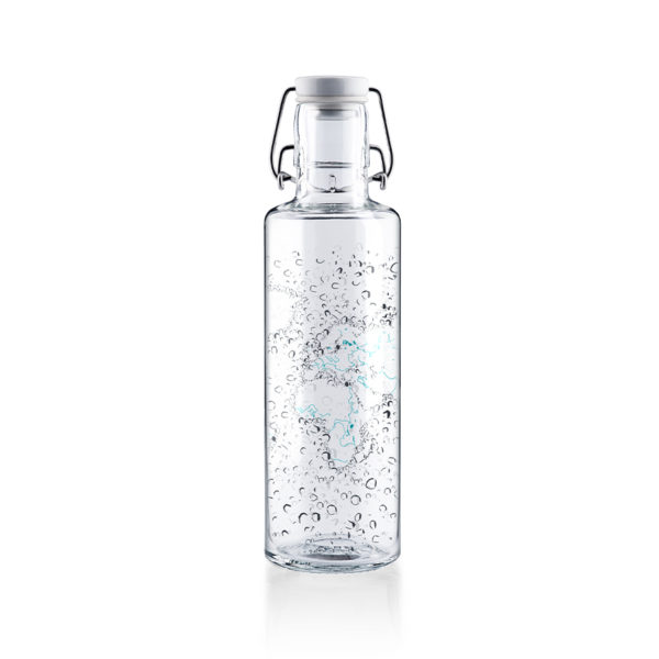 Glastrinkflasche Waterworld - 0,6 l