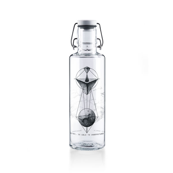 Glastrinkflasche Whoever Understands Geometry - 0,6 l