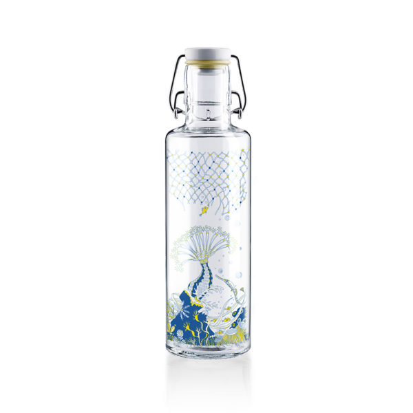 Glastrinkflaschenflasche Korallenreich x Bracenet - 0,6 l