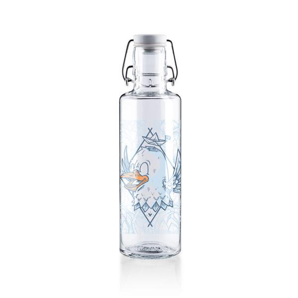Glastrinkflaschenflasche Rips auf Reisen - 0,6 l