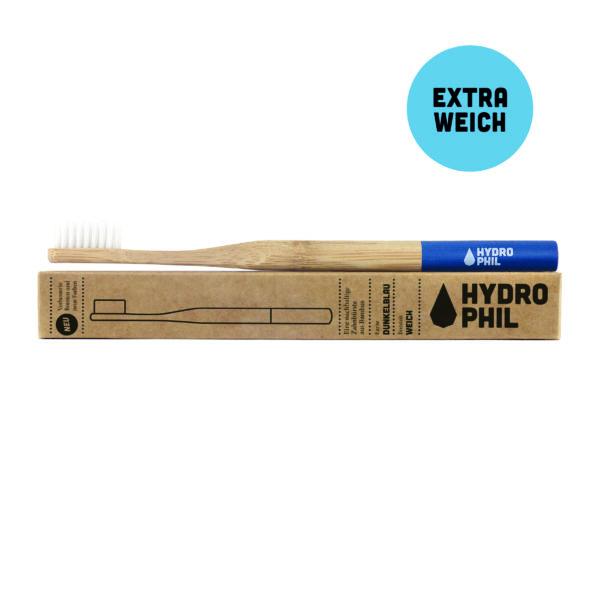 Bambus-Zahnbürste dunkelblau - extra weiche Borsten 1