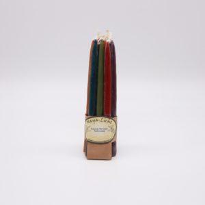 Kerzen aus Myrtenwachs Farbmix dunkel - 10er Set