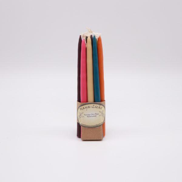 Kerzen aus Myrtenwachs Farbmix hell - 10er Set