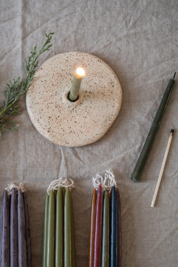 Kerzenhalter aus Keramik - kiesel 2