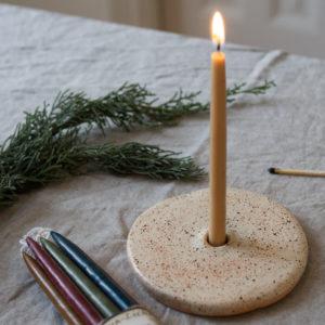 Kerzenhalter aus Keramik - kiesel 7