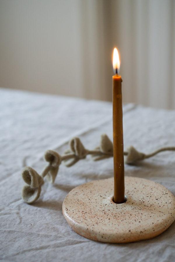 Kerzenhalter aus Keramik - kiesel 1