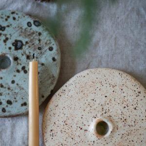 Kerzenhalter aus Keramik - kiesel 9