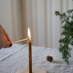 Kerzenhalter aus Keramik - kiesel 8