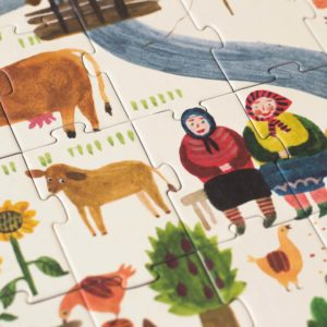 Puzzle Enjoy the Farm – 100 Teile – Detail