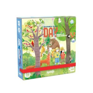 Pocketpuzzle Night & Day in the Forest – 100 Teile