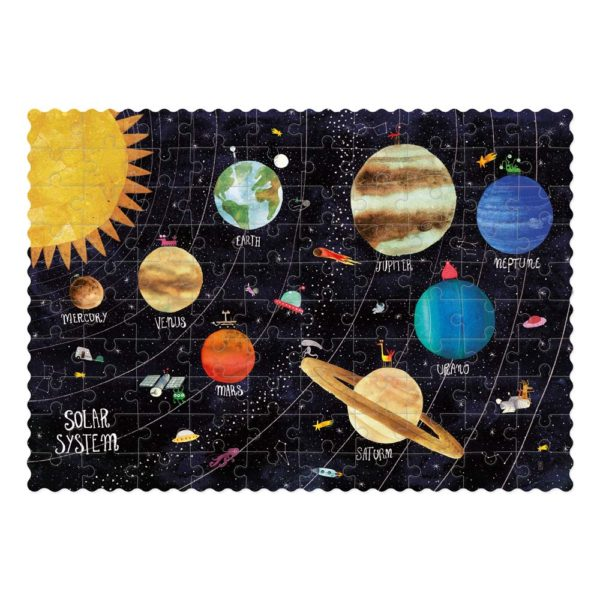 Pocketpuzzle Discover the Planets – 100 Teile – aufgebaut