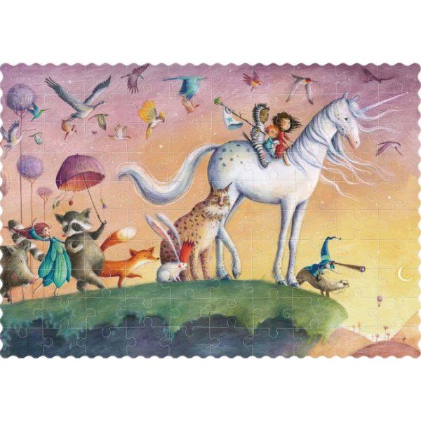 Pocketpuzzle My Unicorn – 100 Teil – aufgebaut