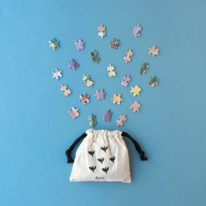 Pocketpuzzle My Unicorn – 100 Teil – Stoffbeutel