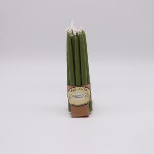 Kerzen aus Myrtenwachs palmgrün - 10er Set