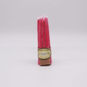 Kerzen aus Myrtenwachs pink - 10er Set