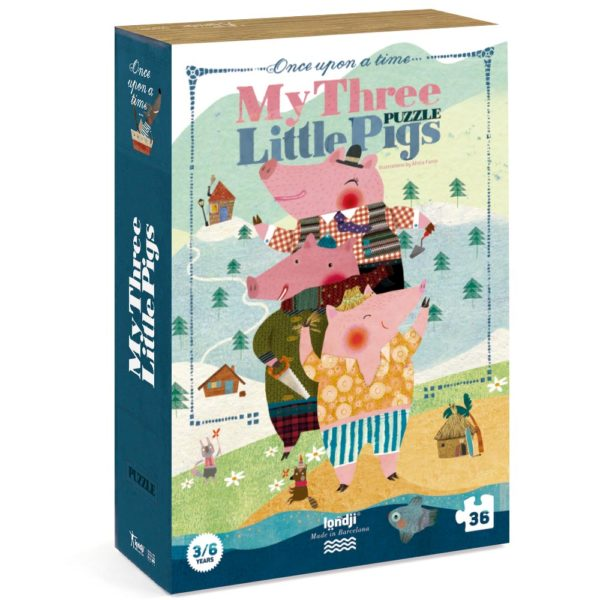 Puzzle My 3 little Pigs – 36 Teile