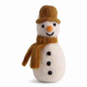 Schneemann mit Hut und Schal aus Filz von der Firma Én Gry & Sif