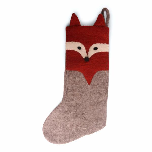 Nikolausstiefel mit Fuchs-Design aus Filz von der Firma Én Gry & Sif