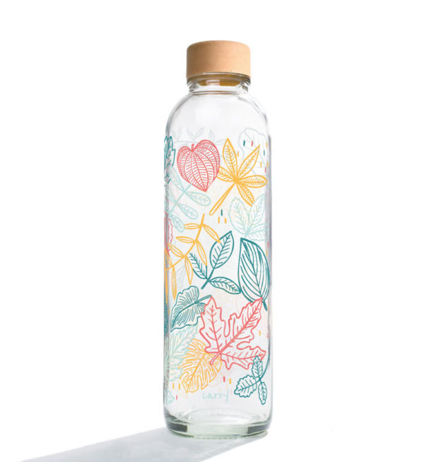 Glastrinkflasche Falling leaves - 0,7 l