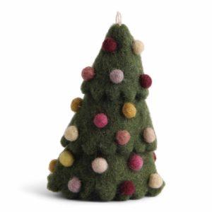 Weihnachtsbaum aus Filz mit bunten Kugeln von der Firma Én Gry & Sif