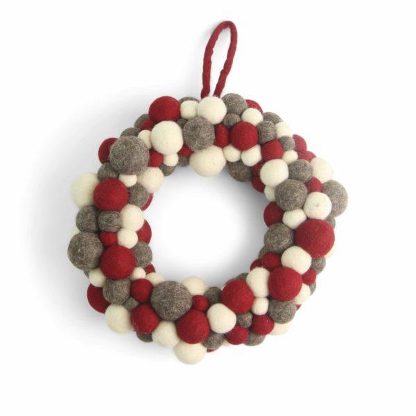 Weihnachtskranz aus Filzkugeln von der Firma èn Gry & Sif