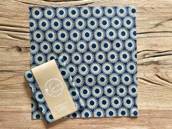 Bienenwachstuch Motiv Jeans-Blau - Gr. L 1