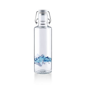 Glastrinkflasche Alpenblick - Rückseite