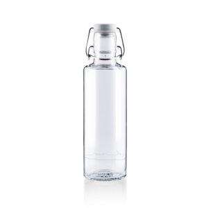 Glastrinkflasche Einfach nur Wasser - Rückseite