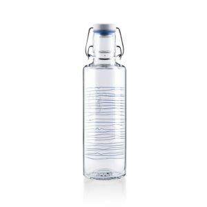 Glastrinkflasche Heimat.Wasser. - Rückseite