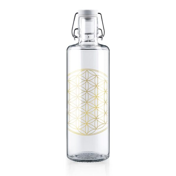 Glastrinkflasche Flower of Life - 1,0 l