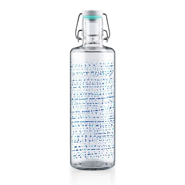 Glastrinkflasche One million drops - 1,0 l